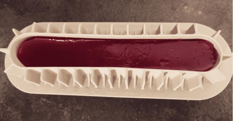 Recette bûche chocolat blanc framboise - Laetitia Nutritionniste Diététicienne à domicile Tours