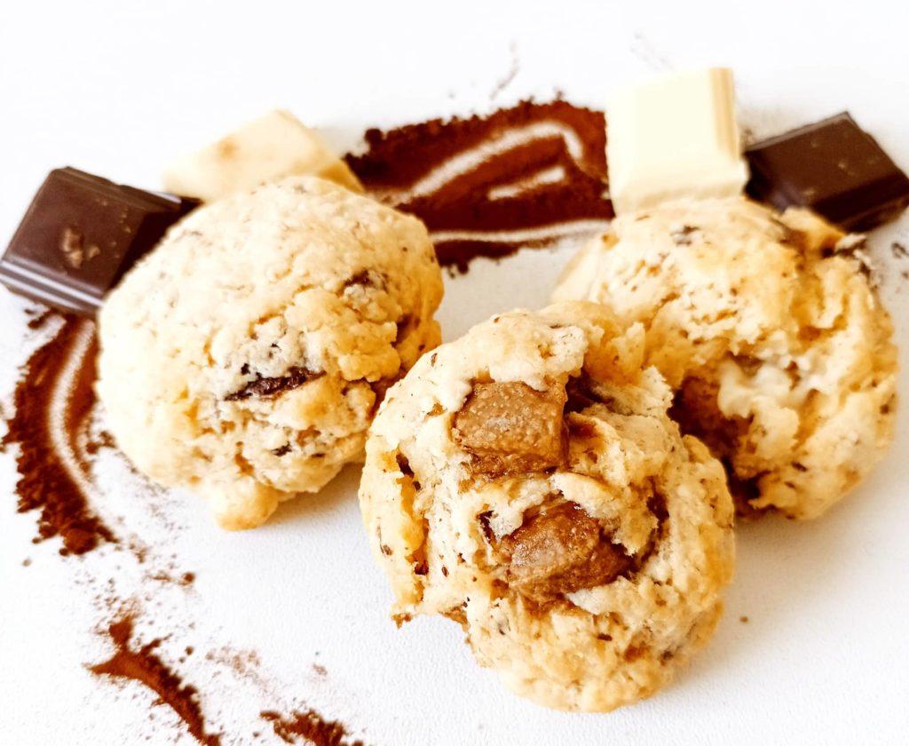 Recette cookie 3 chocolats - Laetitia Nutritionniste Diététicienne à domicile Tours